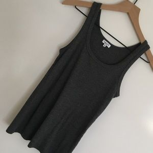 Splendid | Gray Scoop Tank Top | Size Small